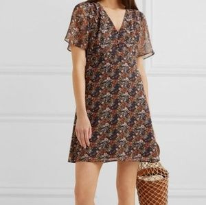 Madewell Floral Chiffon Mini Dress